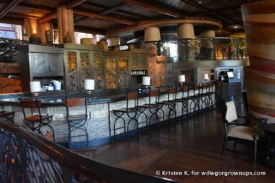 Dinner At Disney's Animal Kingdom Lodge Victoria Falls Lounge