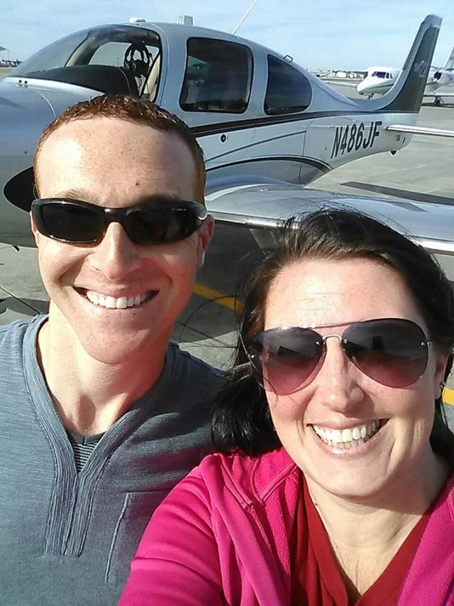 my amazing pilot friend and his tiny plane