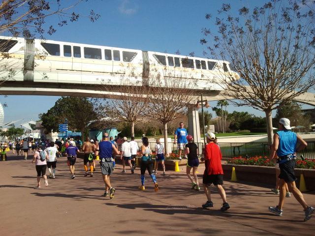 Running under the monorail