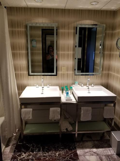 bathroom with no counter space