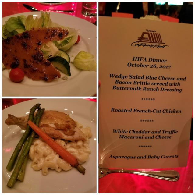 menu and dinner