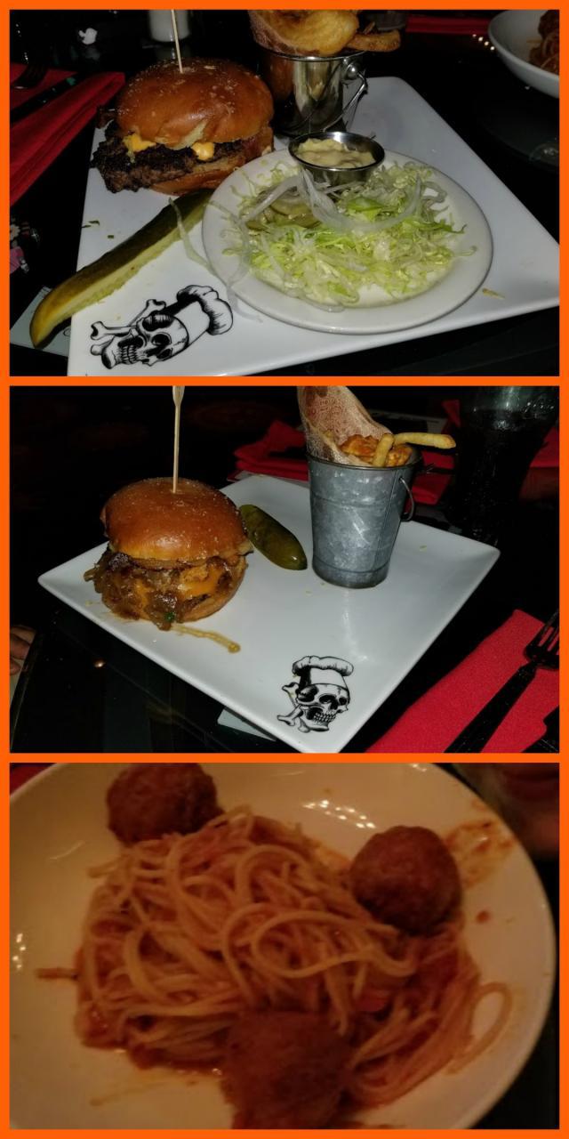 burgers and sketti