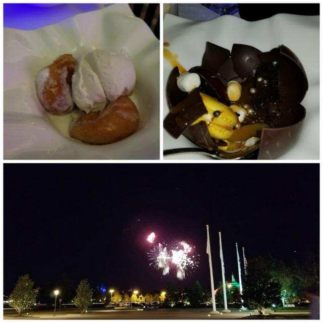 desserts and view