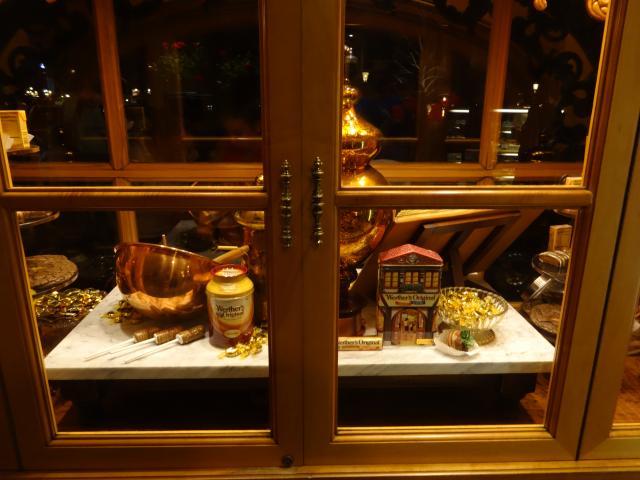 Window display at Caramel store