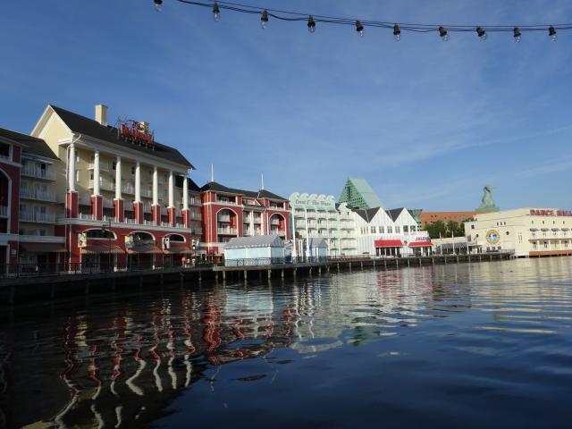 Boardwalk villas from the boat dock