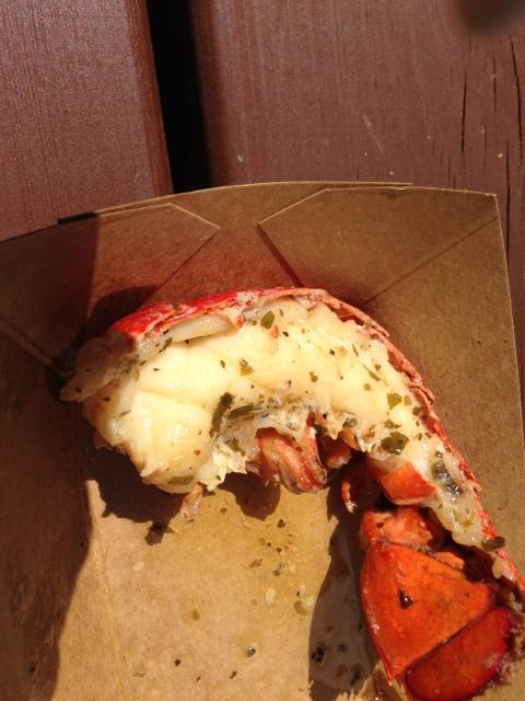 tiny but tasty lobster tail
