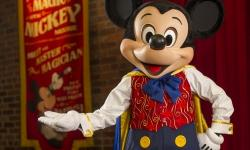 Mickey Mouse Meets and Talks to Guest at Town Square Theater