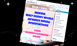 Making Advance Dining Reservations At Walt Disney World