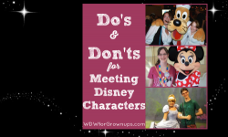 Do's and Don'ts of Meeting Disney Characters
