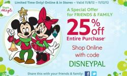 Friends & Family Get 25% Off at the Disney Store