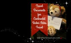 Travel Documents for Continental United States Travel