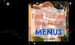 2015 Epcot International Food and Wine Festival Booth Menus Announced