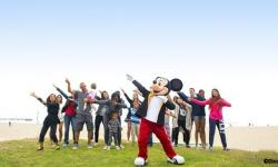 Mickey Mouse Celebrating His Birthday with a Trip Around the World