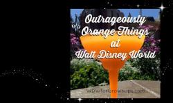 Outrageously Orange Things at Walt Disney World