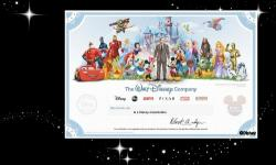 Disney Unveils Collectible Shareholder Certificate